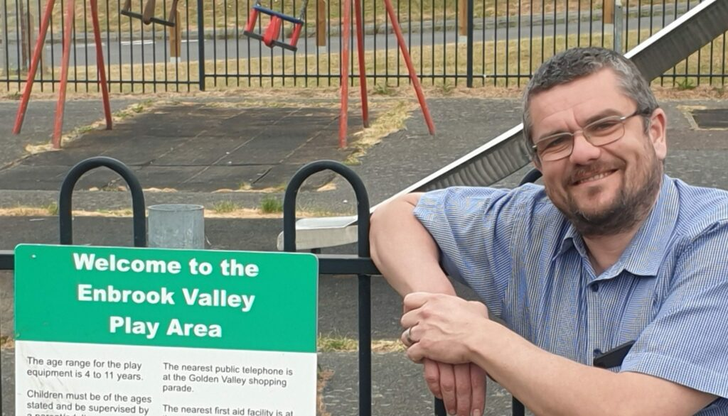 Tim Prater at Enbrook Valley Play Area