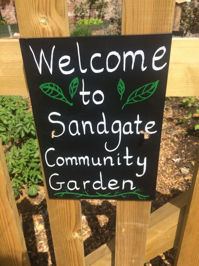 Sandgate Community Garden sign
